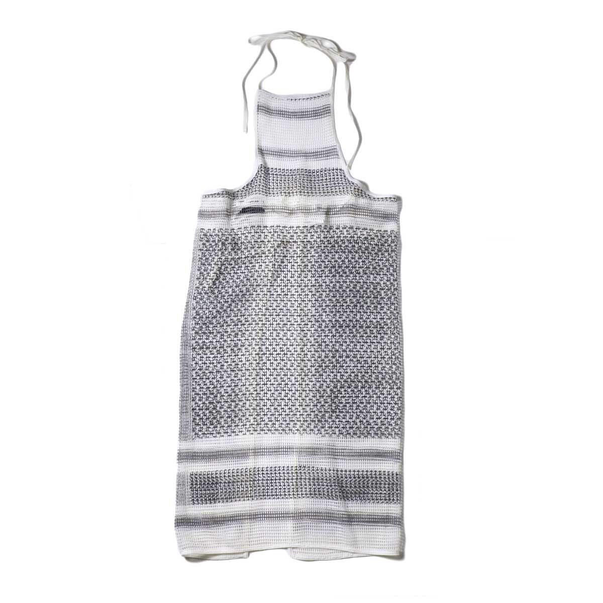 UNUSED / UW0967 cotton square mesh apron one piece 正面