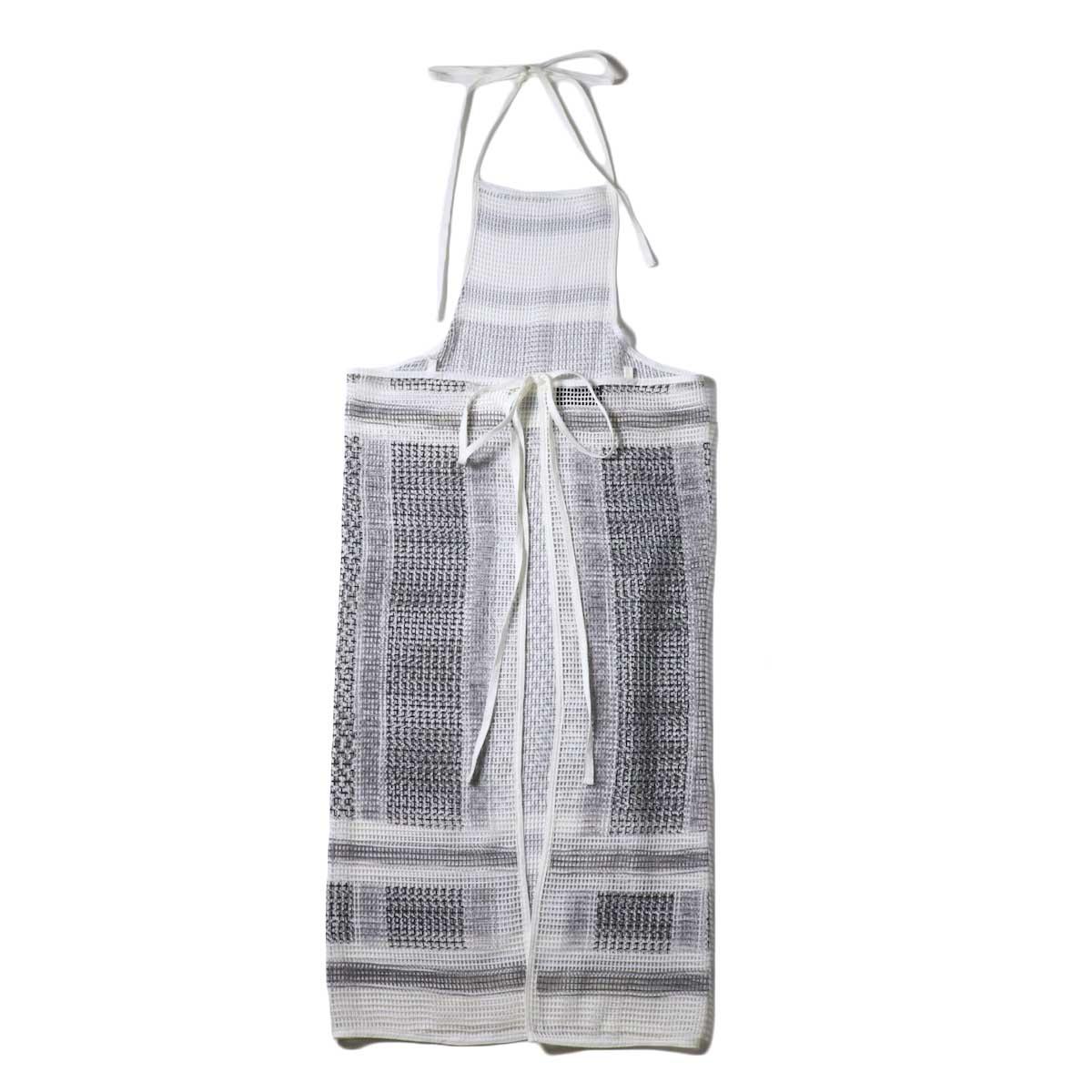 UNUSED / UW0967 cotton square mesh apron one piece 背面