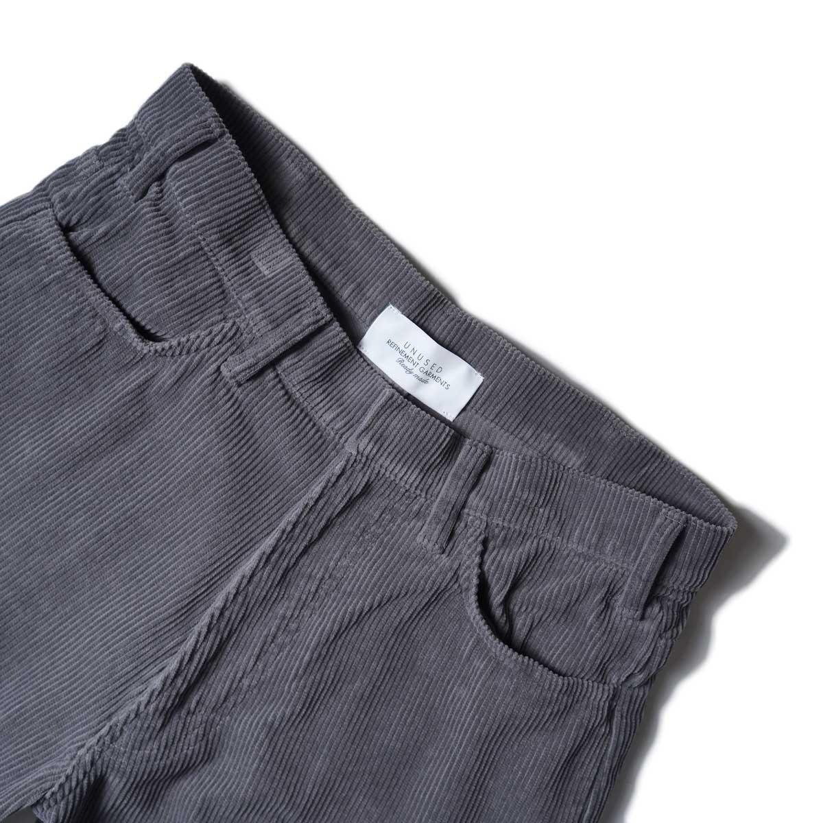 UNUSED / UW0982 CORDUROY PANTS (Gray)ウエスト