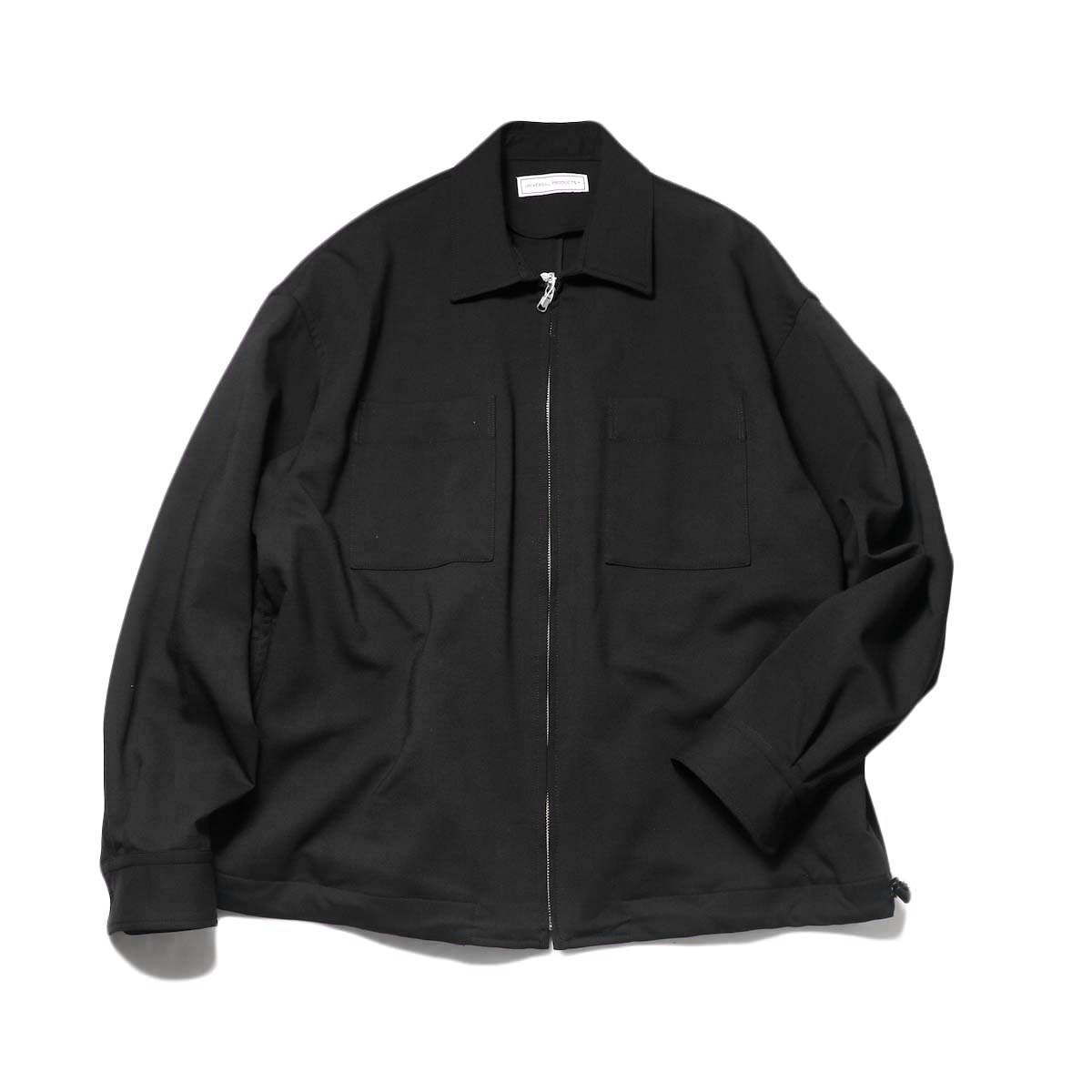 UNIVERSAL PRODUCTS / Double Cloth Zip Front Blouson (Black)