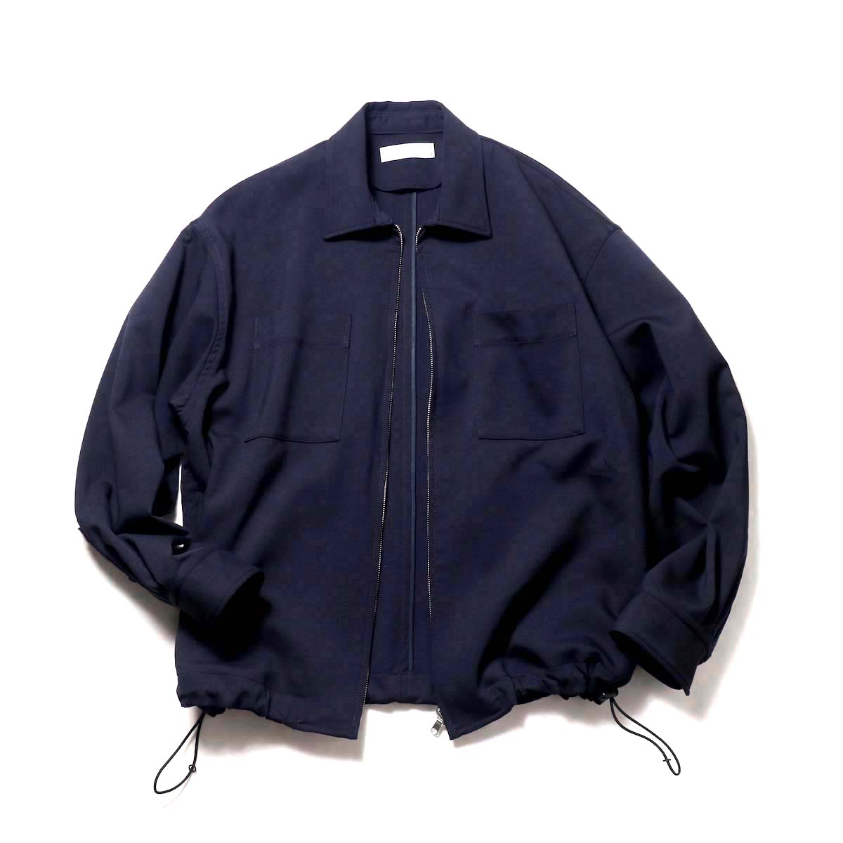 UNIVERSAL PRODUCTS / Double Cloth Zip Front Blouson (Navy)