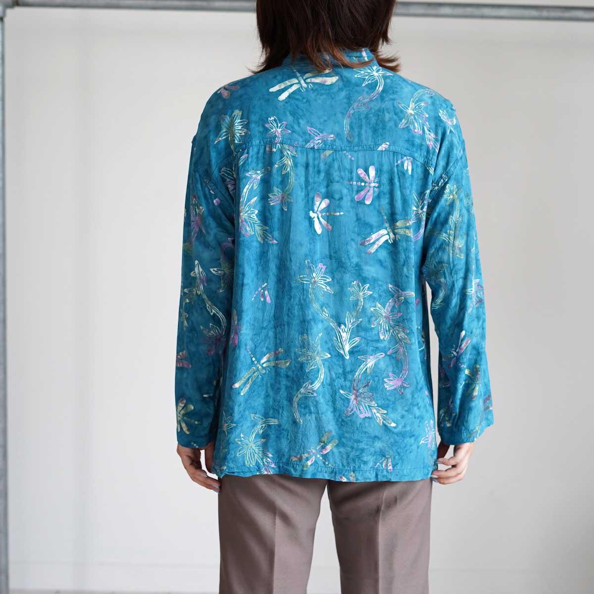 USED / Print Shirt (G) 着用・背面