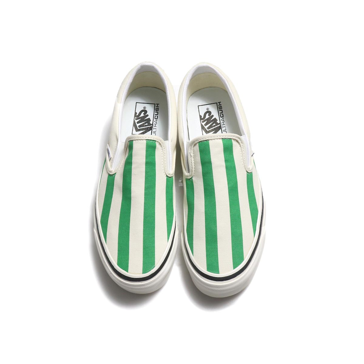 VANS / Classic Slip-On 98 DX (Anaheim Factory) -OgWhite/OgEmerald/BigStripes 正面