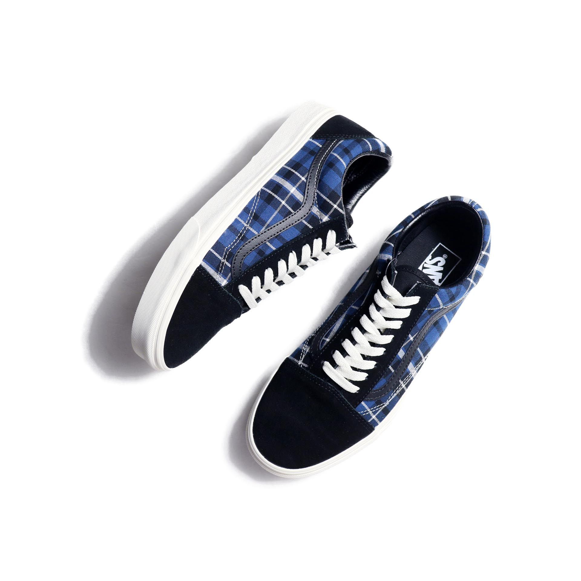 VANS / OLD SKOOL (PlaidMix) Black/Navy