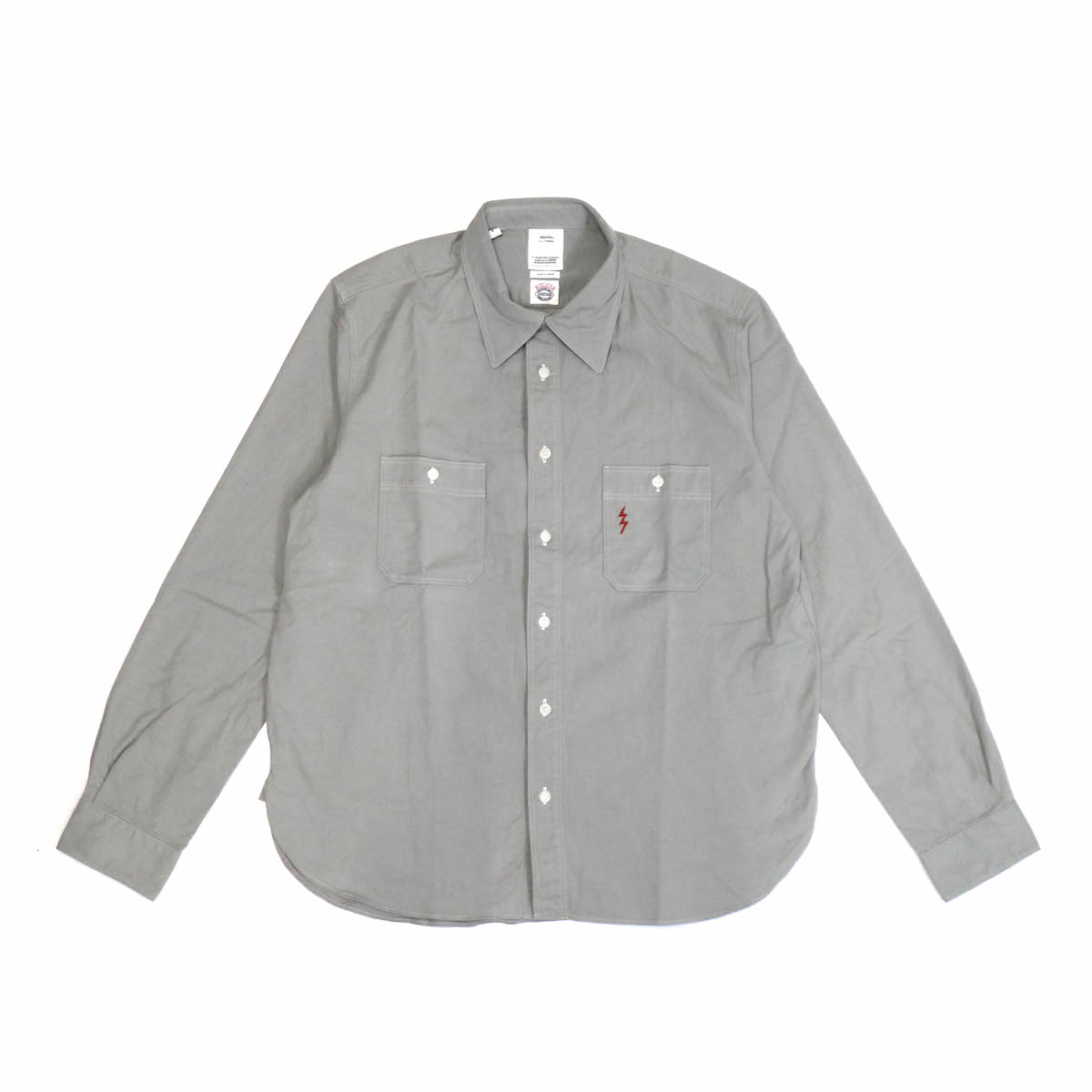 visvim / 1910 SHIRT L/S (GIZA TWILL) -gray
