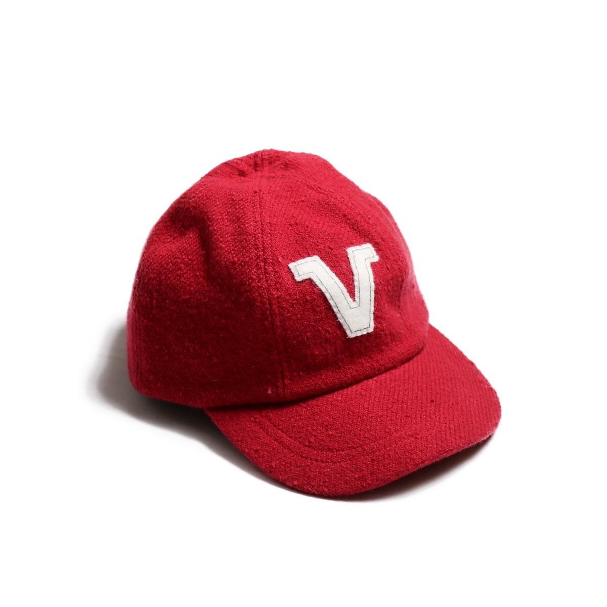 visvim / HONUS CAP V (W/LI NEP TWEED) -red