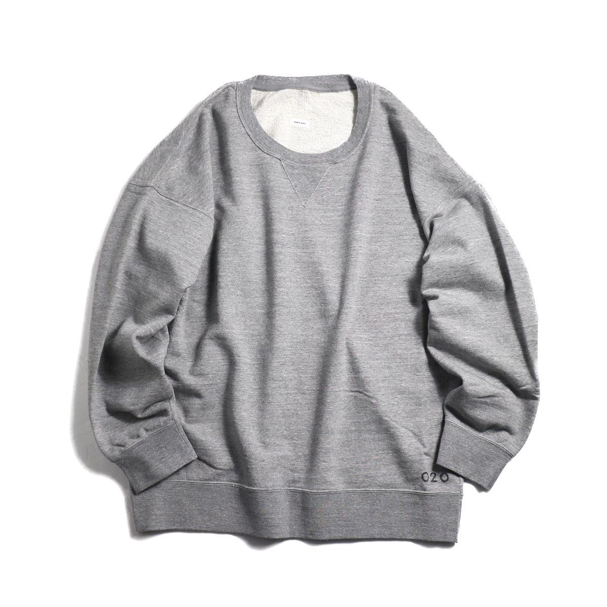visvim / JUMBO SWEAT L/S (HAND NUMBERING) -Gray