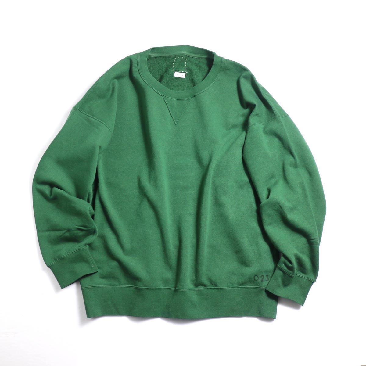 visvim / JUMBO SWEAT L/S (HAND NUMBERING) -Green