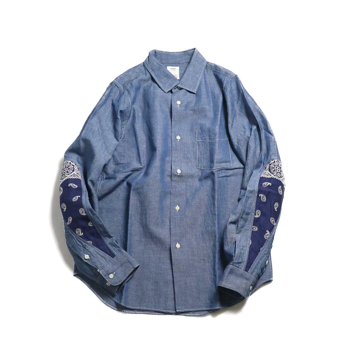visvim / ALBACORE JUMBO SHIRT L/S (LUXSIC) -Blue