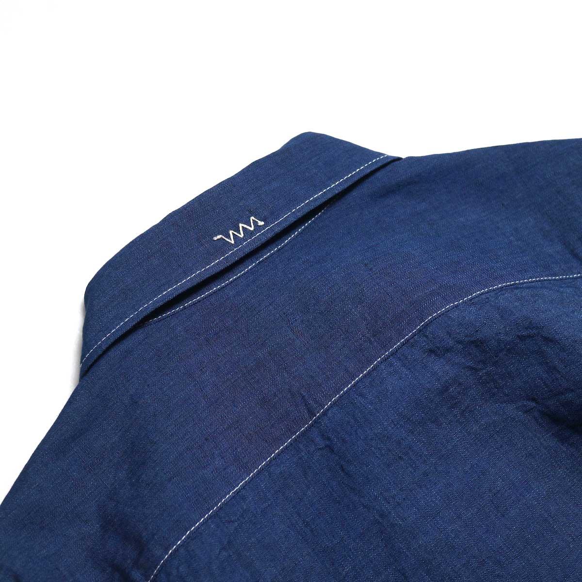visvim / ALBACORE JUMBO SHIRT L/S (LUXSIC) -Navy 刺繍