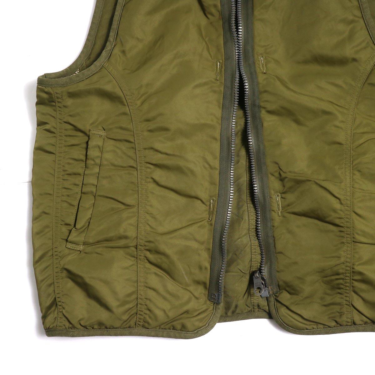 visvim / IRIS LINER VEST -Khaki ポケット