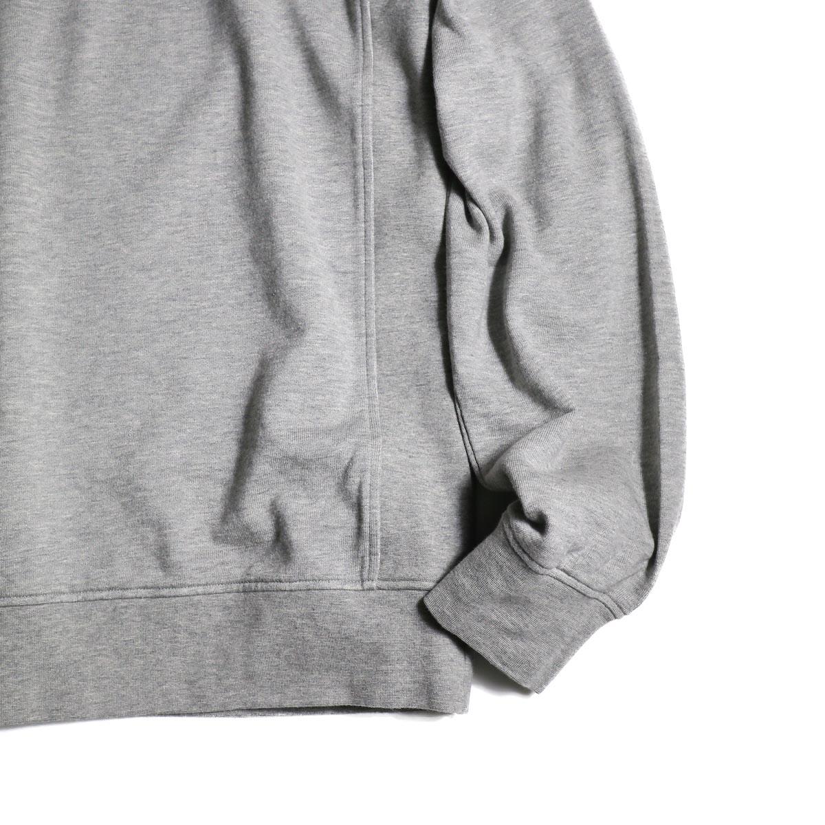 visvim / JV CREW L/S (Gray) 袖、裾