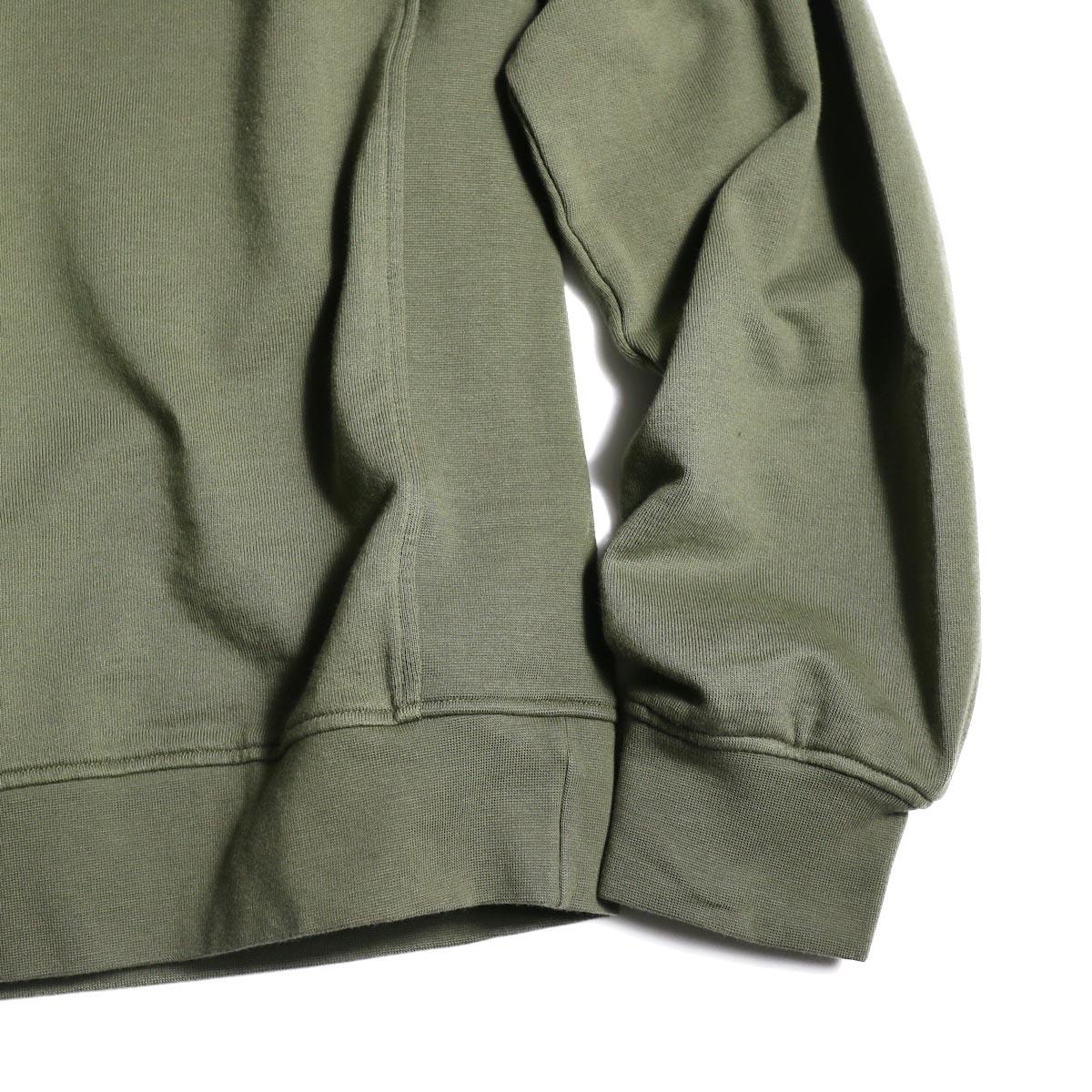 visvim / JV CREW L/S (Olive) 袖、裾