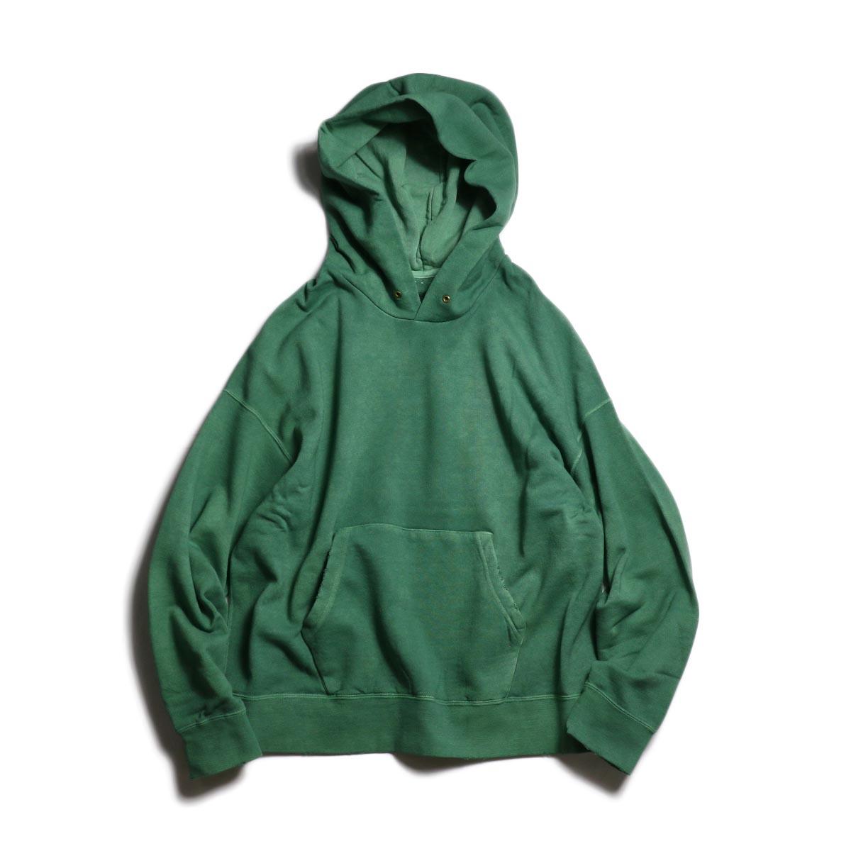 visvim / AMPLUS HOODIE P.O. (UNEVEN DYE) (Green)