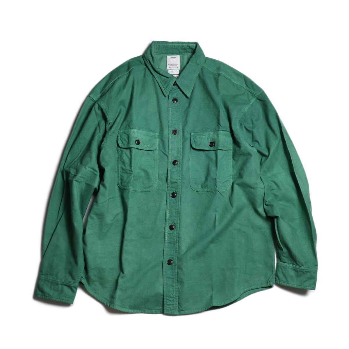 visvim / LUMBER SHIRT L/S (UNEVEN DYE) (Green)正面