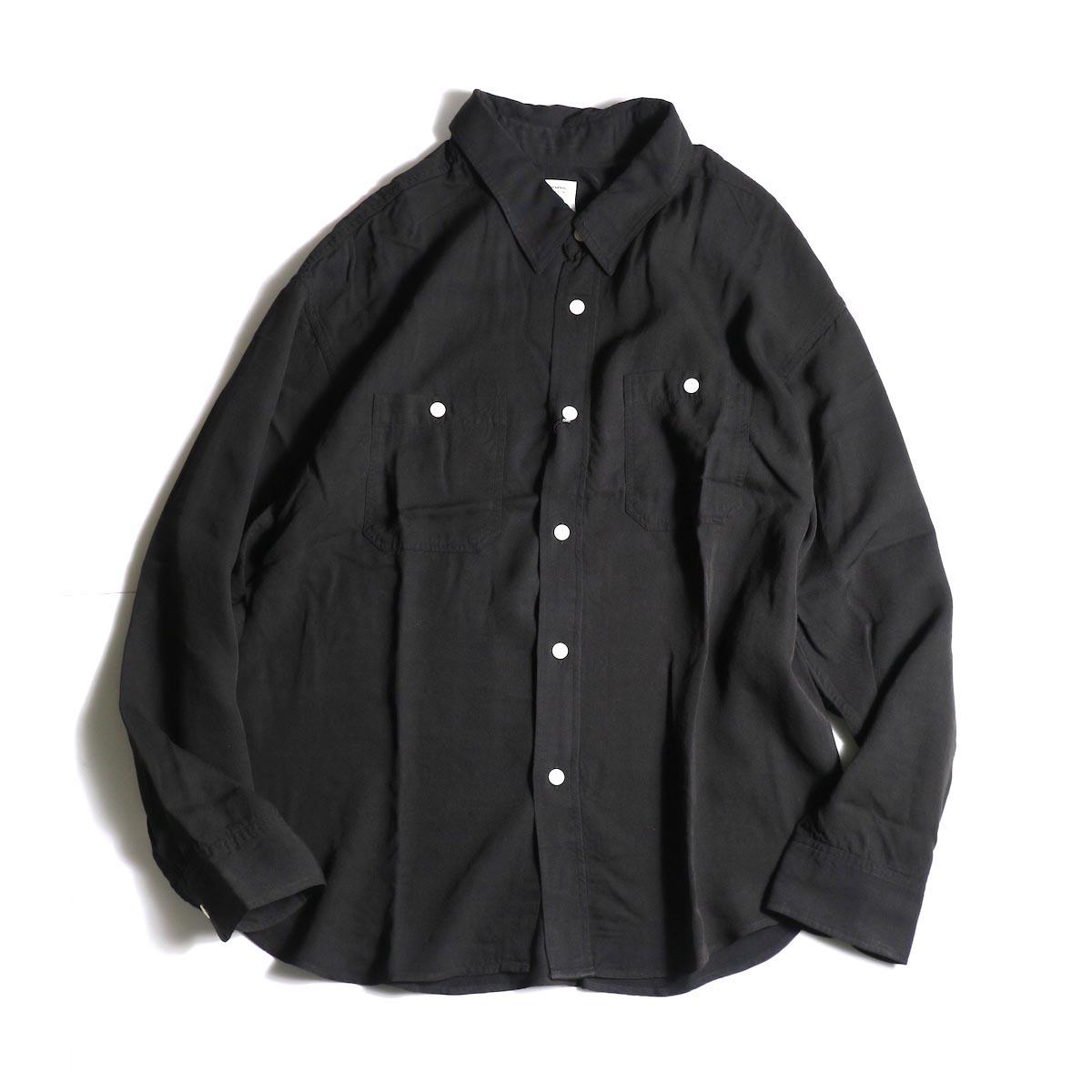 visvim / MAINSAIL SHIRT L/S (RAYON) (Black) 正面