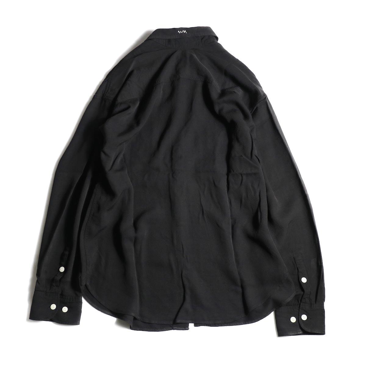 visvim / MAINSAIL SHIRT L/S (RAYON) (Black)背面
