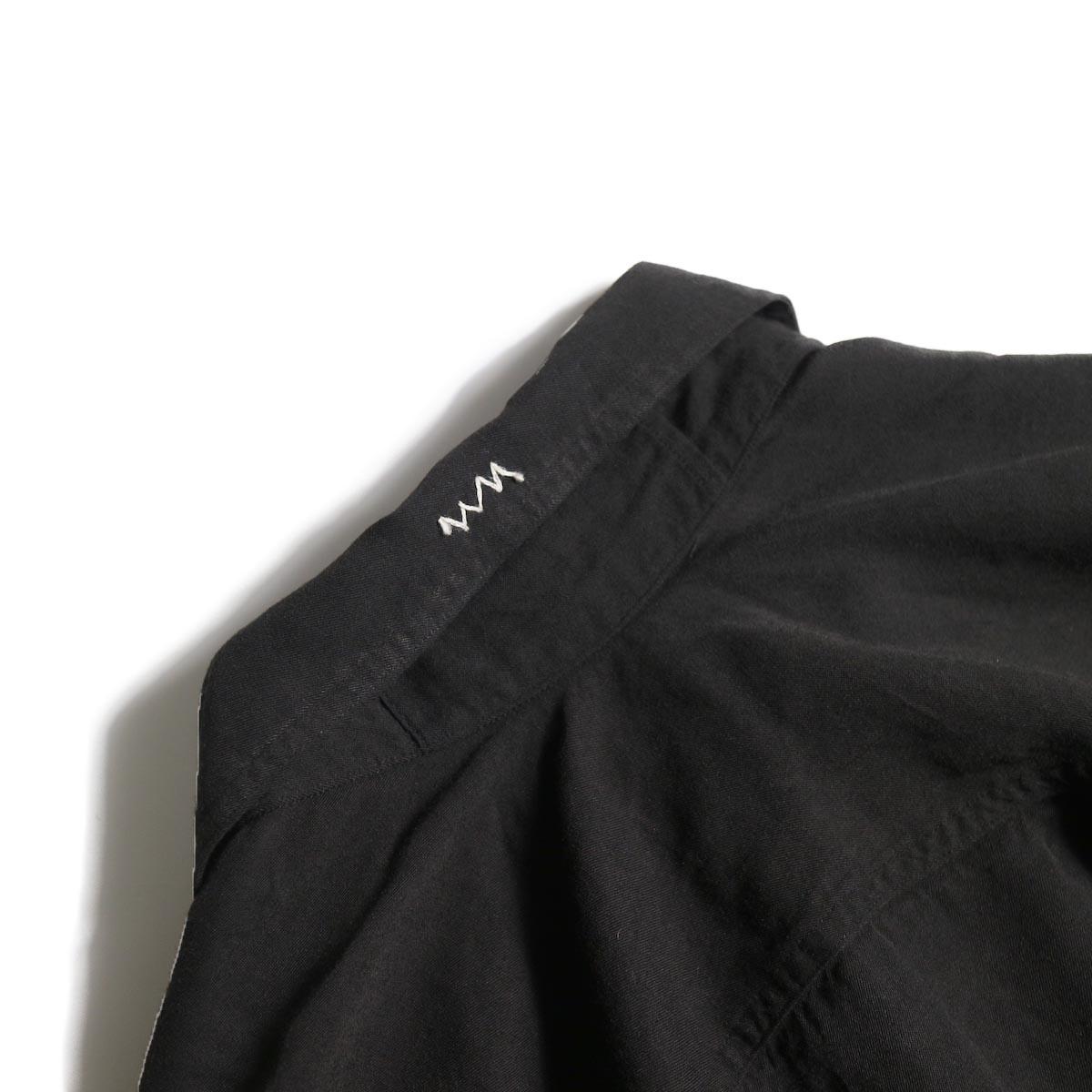 visvim / MAINSAIL SHIRT L/S (RAYON) (Black)襟裏刺繍