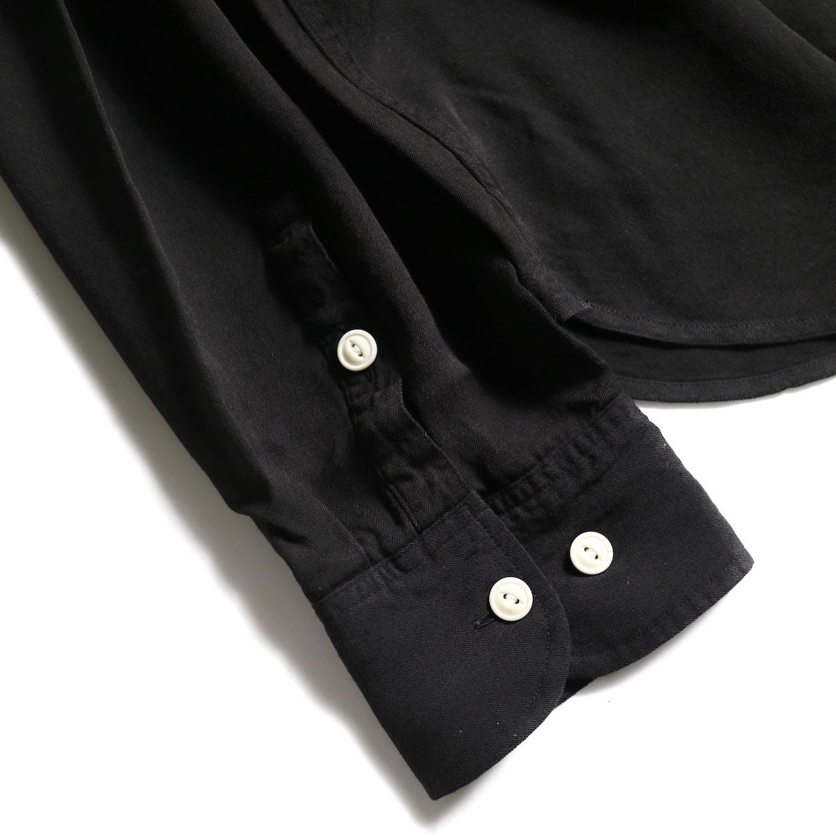 visvim / MAINSAIL SHIRT L/S (RAYON) (Black)カフス