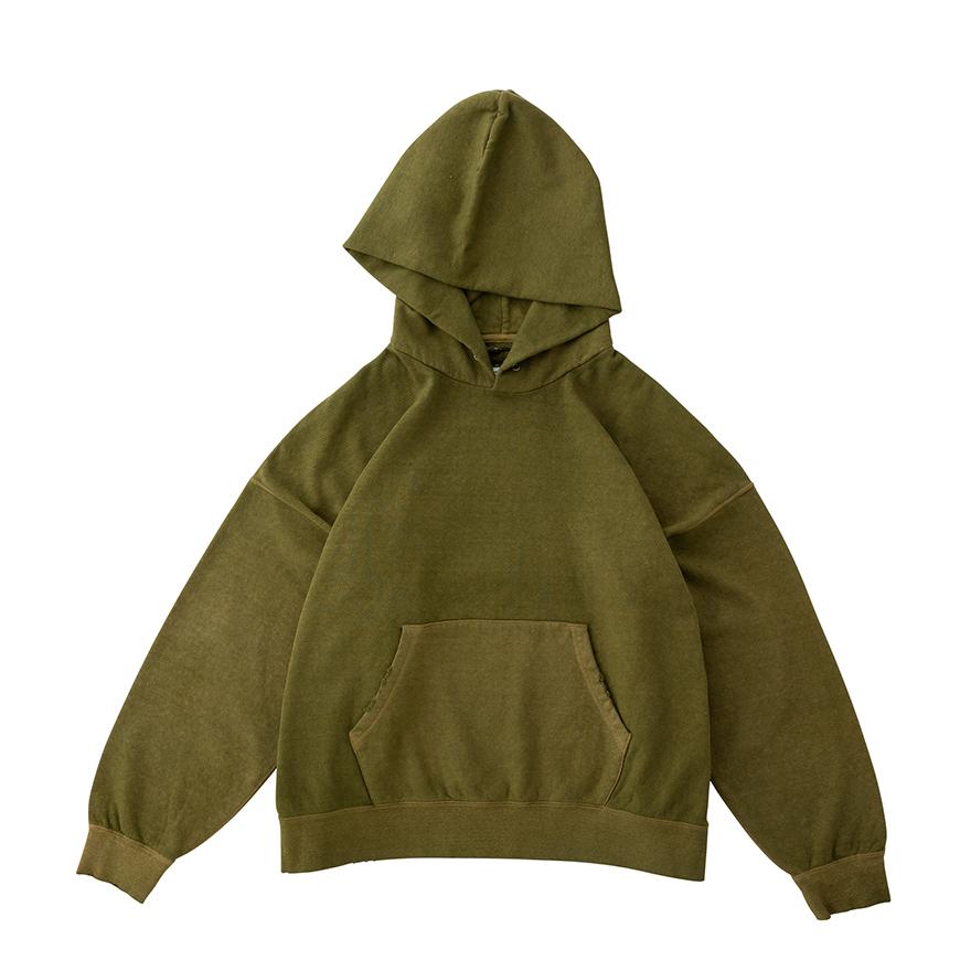 visvim / AMPLUS HOODIE P.O. (UNEVEN DYE) (Green)正面