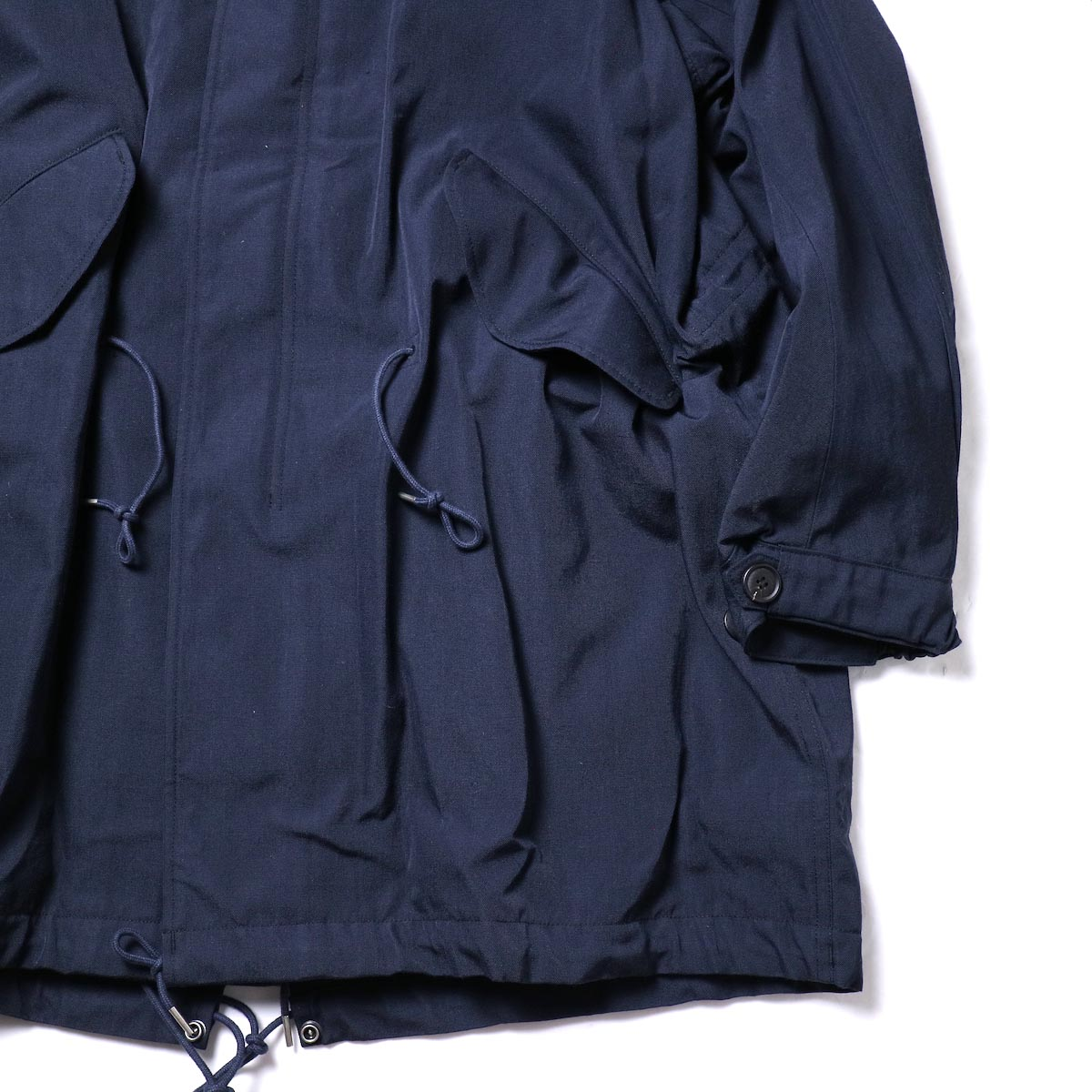visvim / SIX-FIVE FISHTAIL PARKA (W/L) (Navy)裾、袖