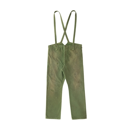 visvim / visvim / TRAVAILLER BRACES PANTS DMGD (Green) BRACES PANTS DMGD (Charcoal)
