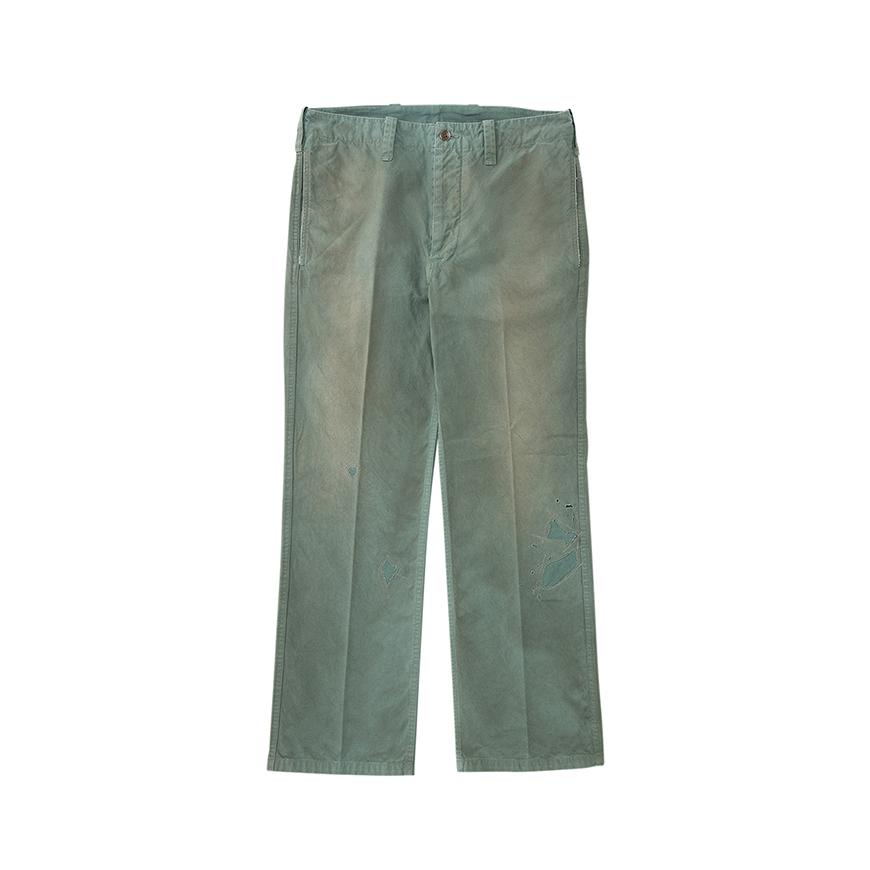 visvim / GIFFORD PANTS DMGD (Green)