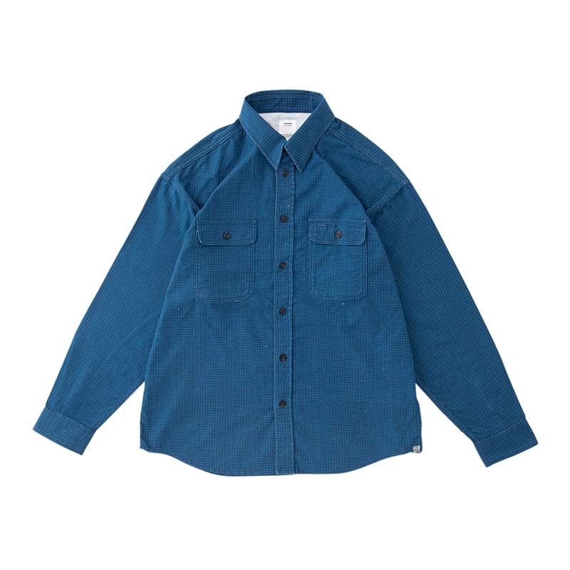 visvim / LUMBER KHADI CHECK L/S (Blue)