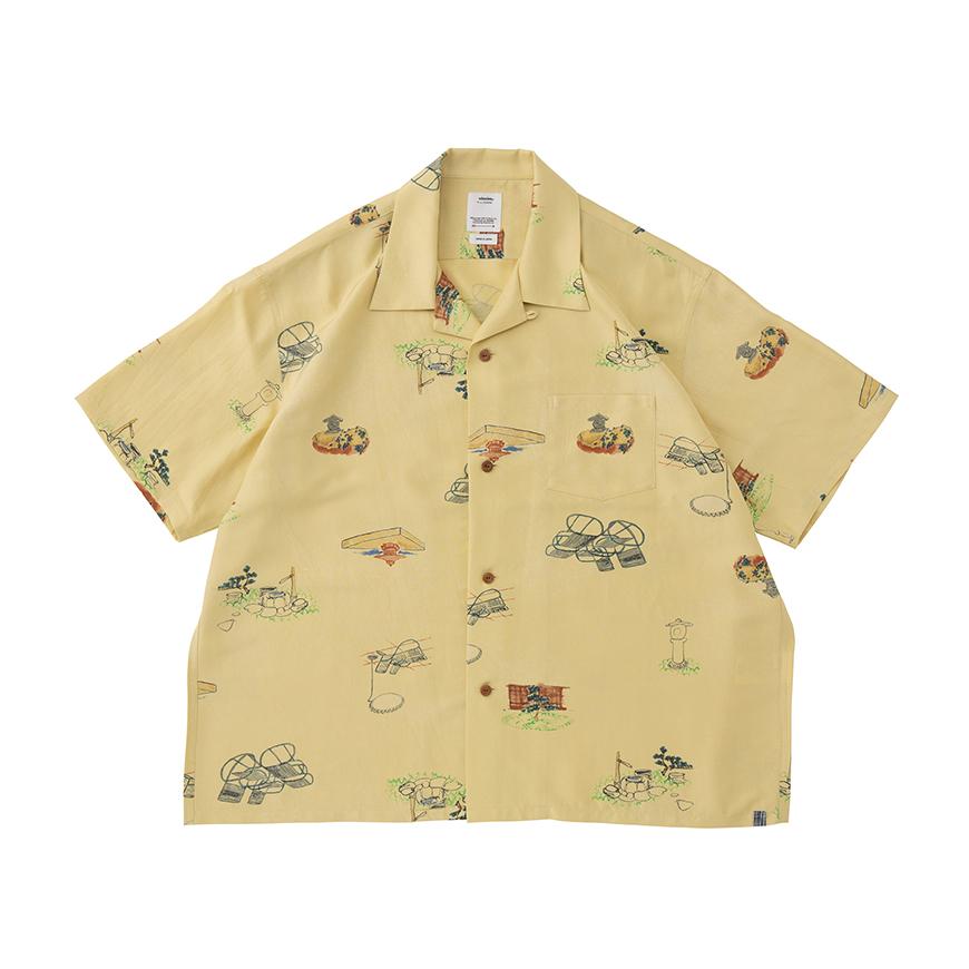 visvim / WALLIS SHIRT S/S GARDEN (Yellow)正面