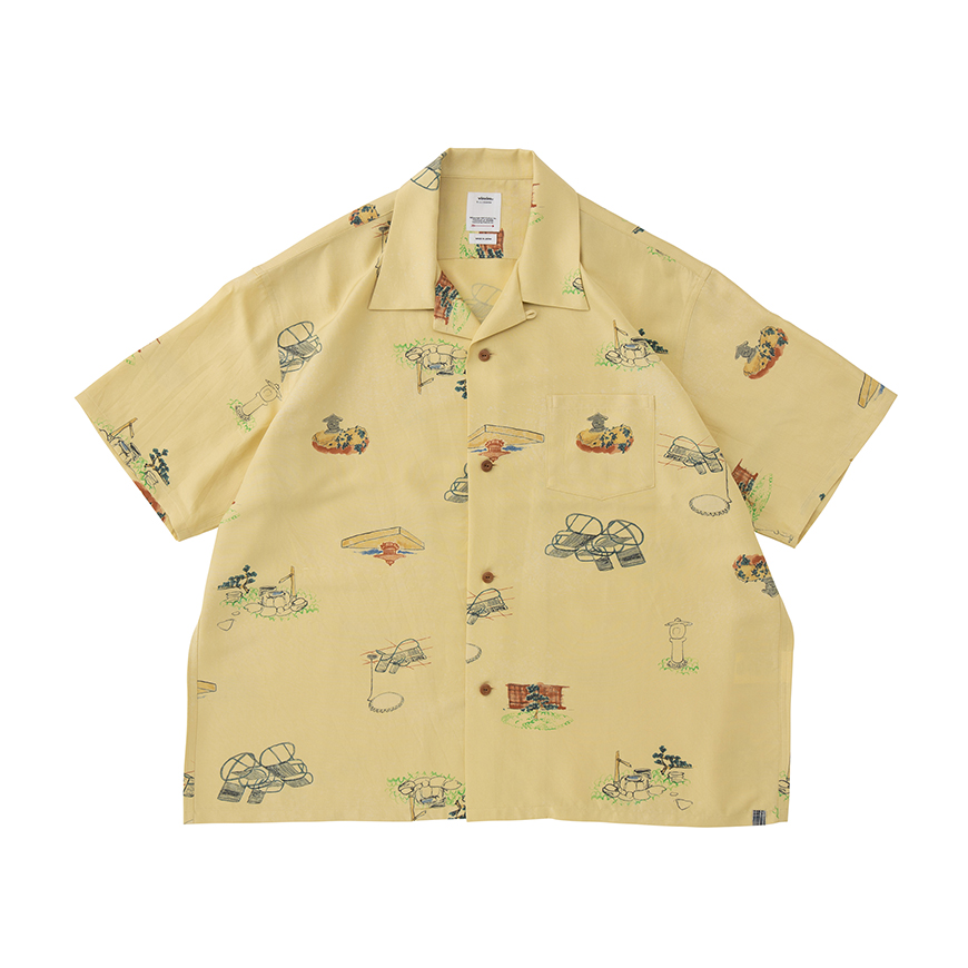 visvim / WALLIS SHIRT S/S GARDEN (Yellow)
