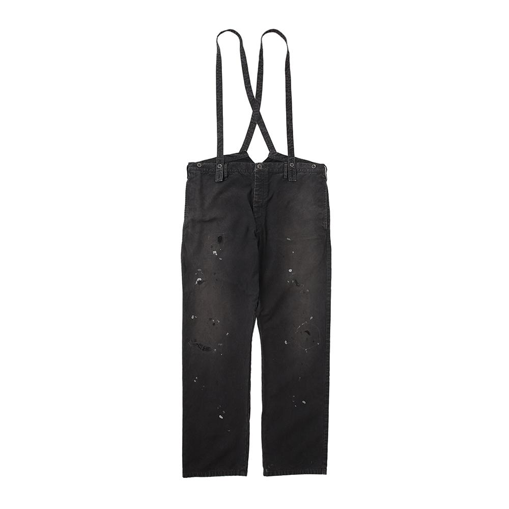 visvim / TRAVAILLER BRACES PANTS DMGD (Black)