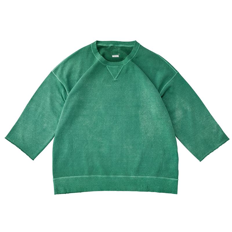 visvim / JUMBO SWEAT 3/4 (UNEVEN DYE) (Green)