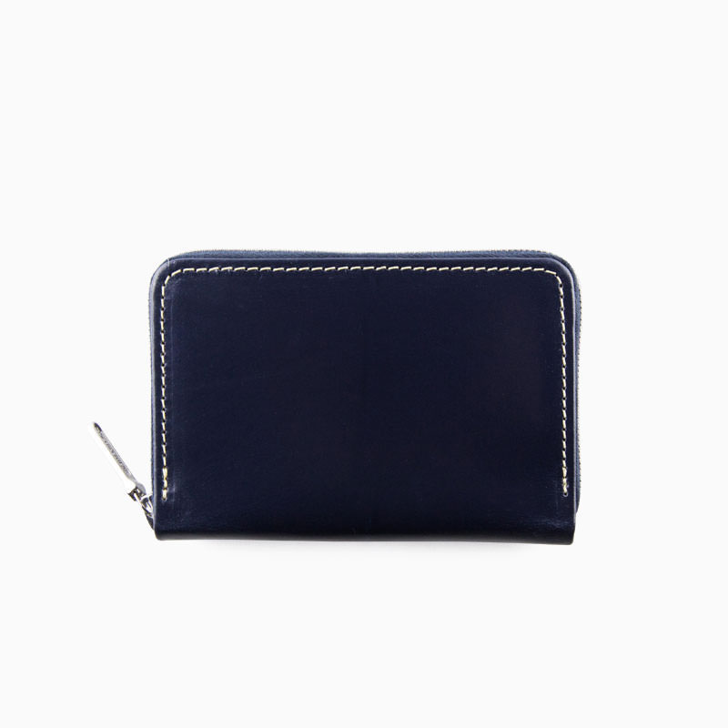 WHITEHOUSE COX / S1941 MINI ZIP PURSE / BRIDLE -NAVY