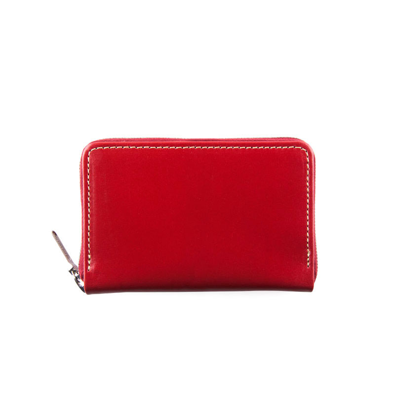WHITEHOUSE COX / S1941 MINI ZIP PURSE / BRIDLE -RED
