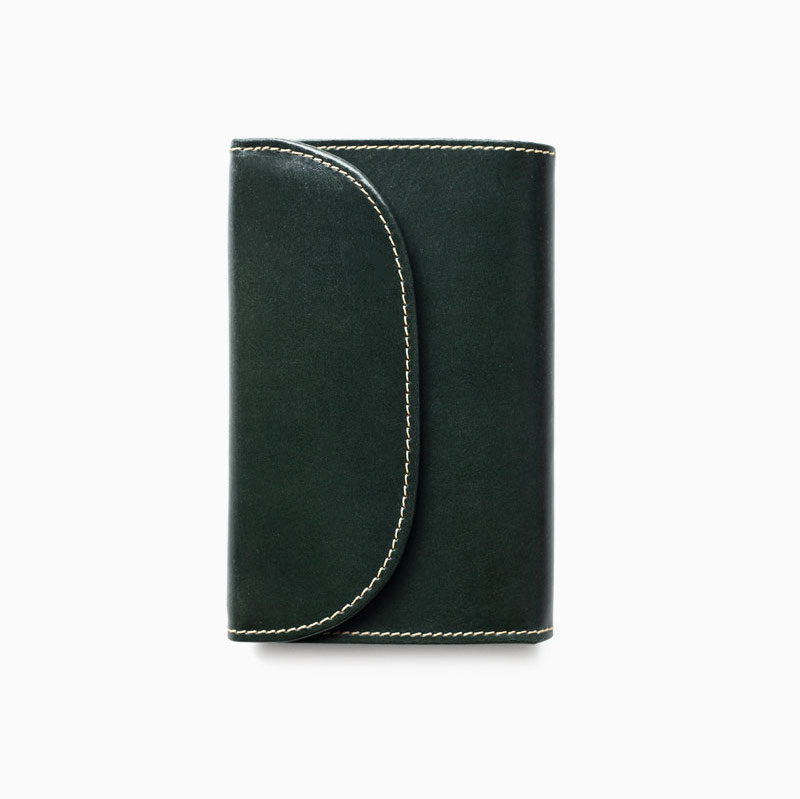 WHITEHOUSE COX / S7660 3FOLD WALLET / BRIDLE -GREEN