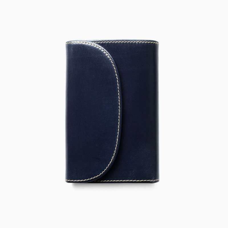 WHITEHOUSE COX / S7660 3FOLD WALLET / BRIDLE -NAVY