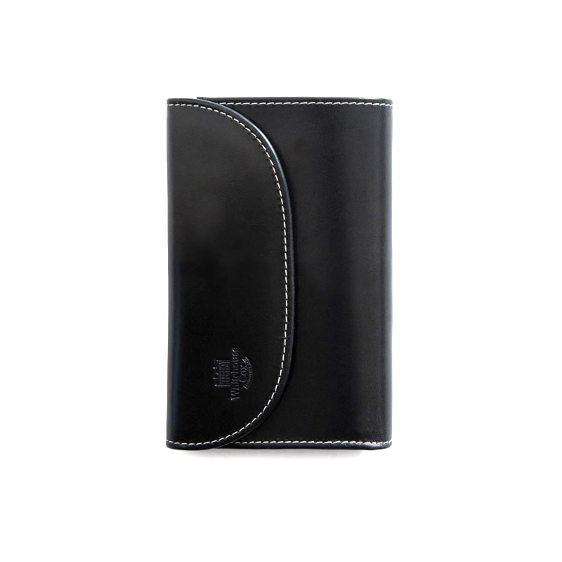 WHITEHOUSE COX / S7660 3FOLD WALLET / HOLIDAY LINE  -BLACK×PURPLE