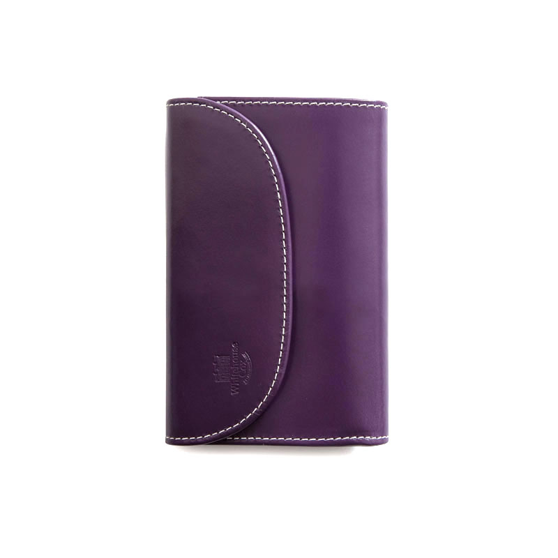 WHITEHOUSE COX / S7660 3FOLD WALLET / HOLIDAY LINE  -PURPLE×NEWTON
