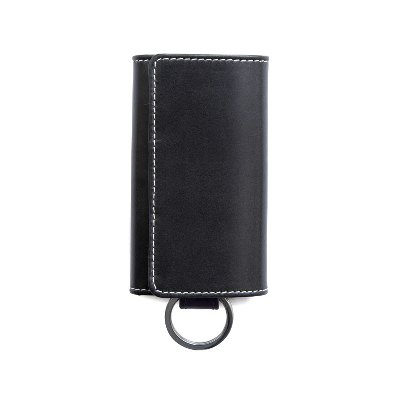 WHITEHOUSE COX / S9692 KEY CASE WITH RING / HOLIDAY LINE  -BLACK×PURPLE