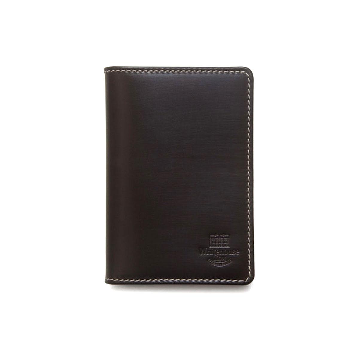 WHITEHOUSE COX / S7412 NAME CARD CASE (Espresso×Yellow)