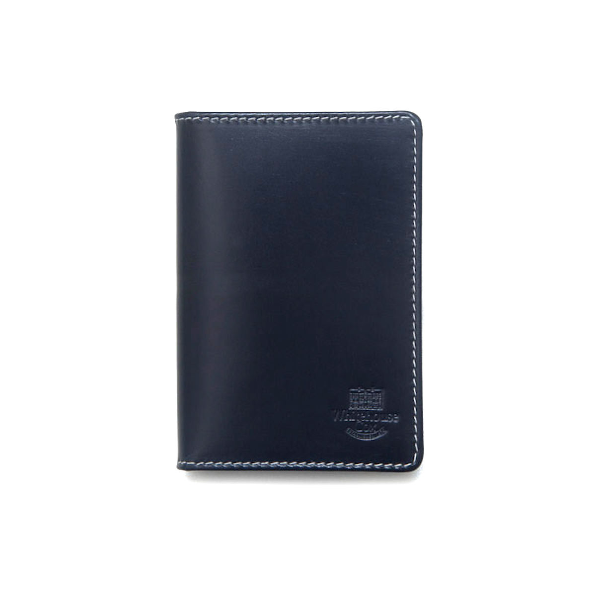 WHITEHOUSE COX / S7412 NAME CARD CASE (Navy×Espresso)