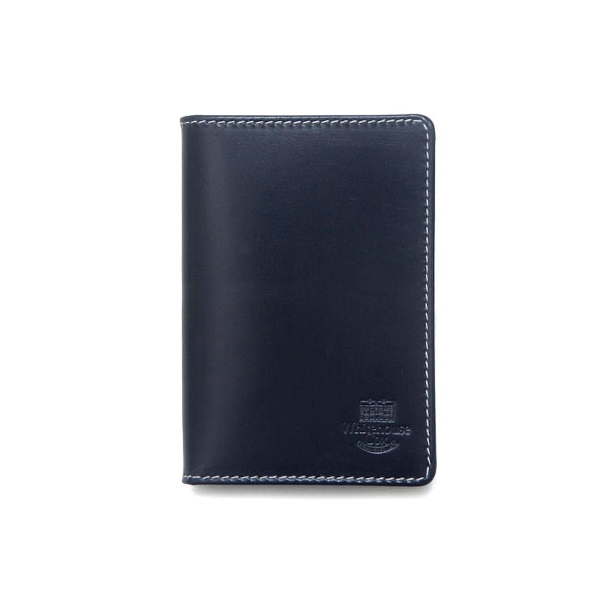 WHITEHOUSE COX / S7412 NAME CARD CASE (Navy×Espresso)