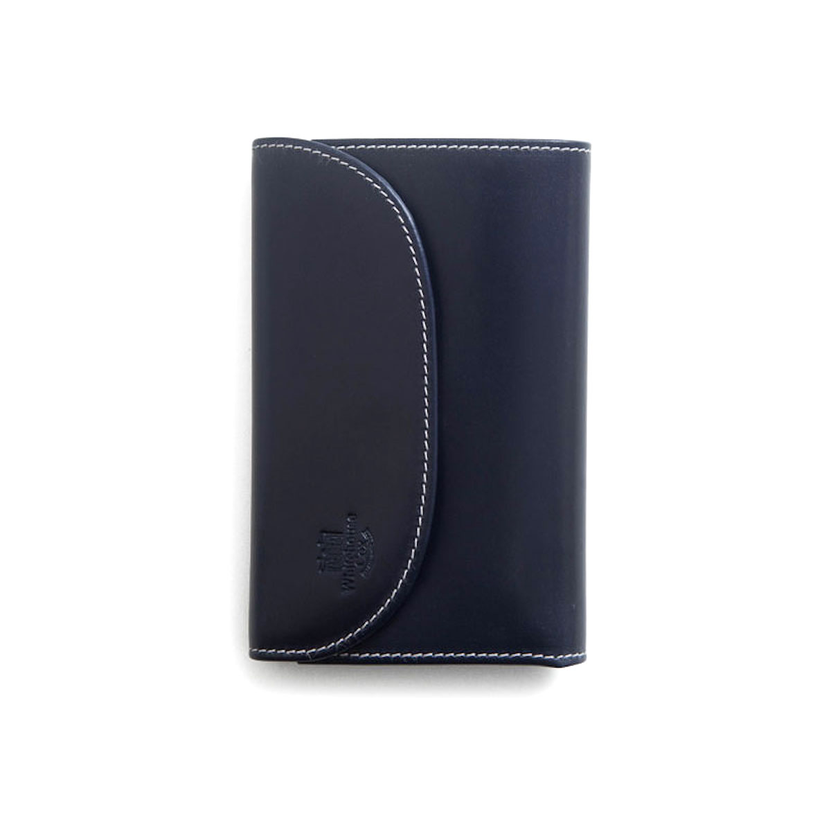 WHITEHOUSE COX / S7660 3FOLD WALLET (Navy×Espresso)