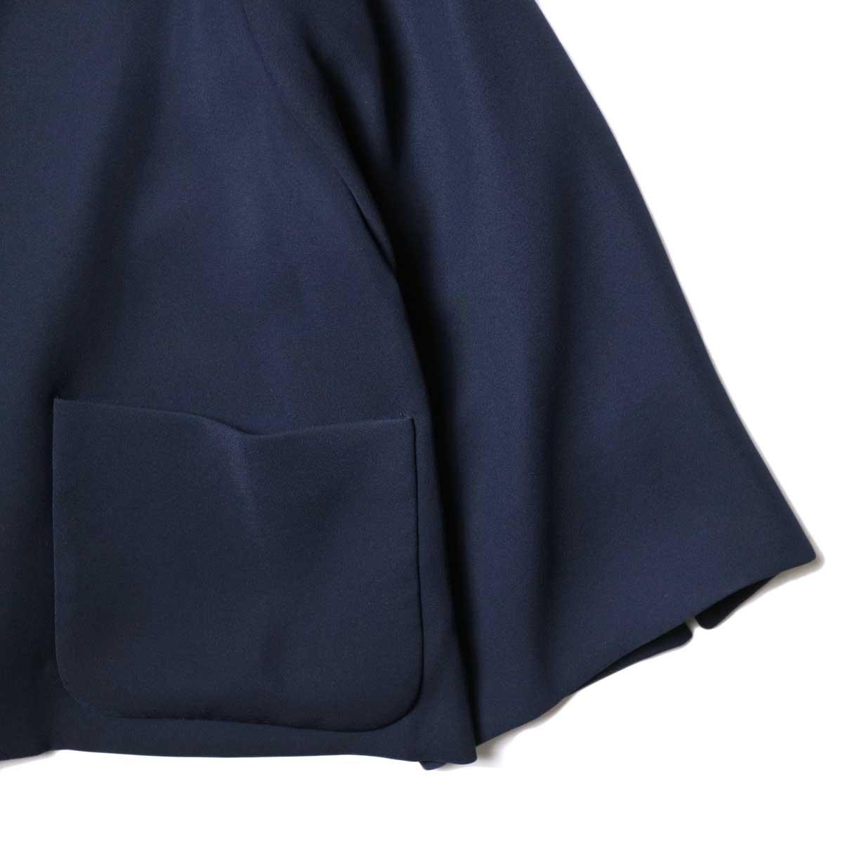 WHYTO. / テントラインオケージョンジャケット (Navy) 袖・裾