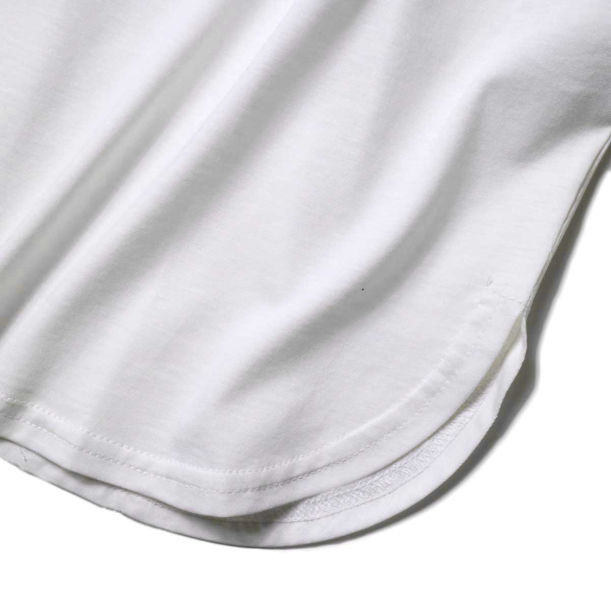 WHYTO. / ギャザースリーブカットソー (Off White) 裾・スリット