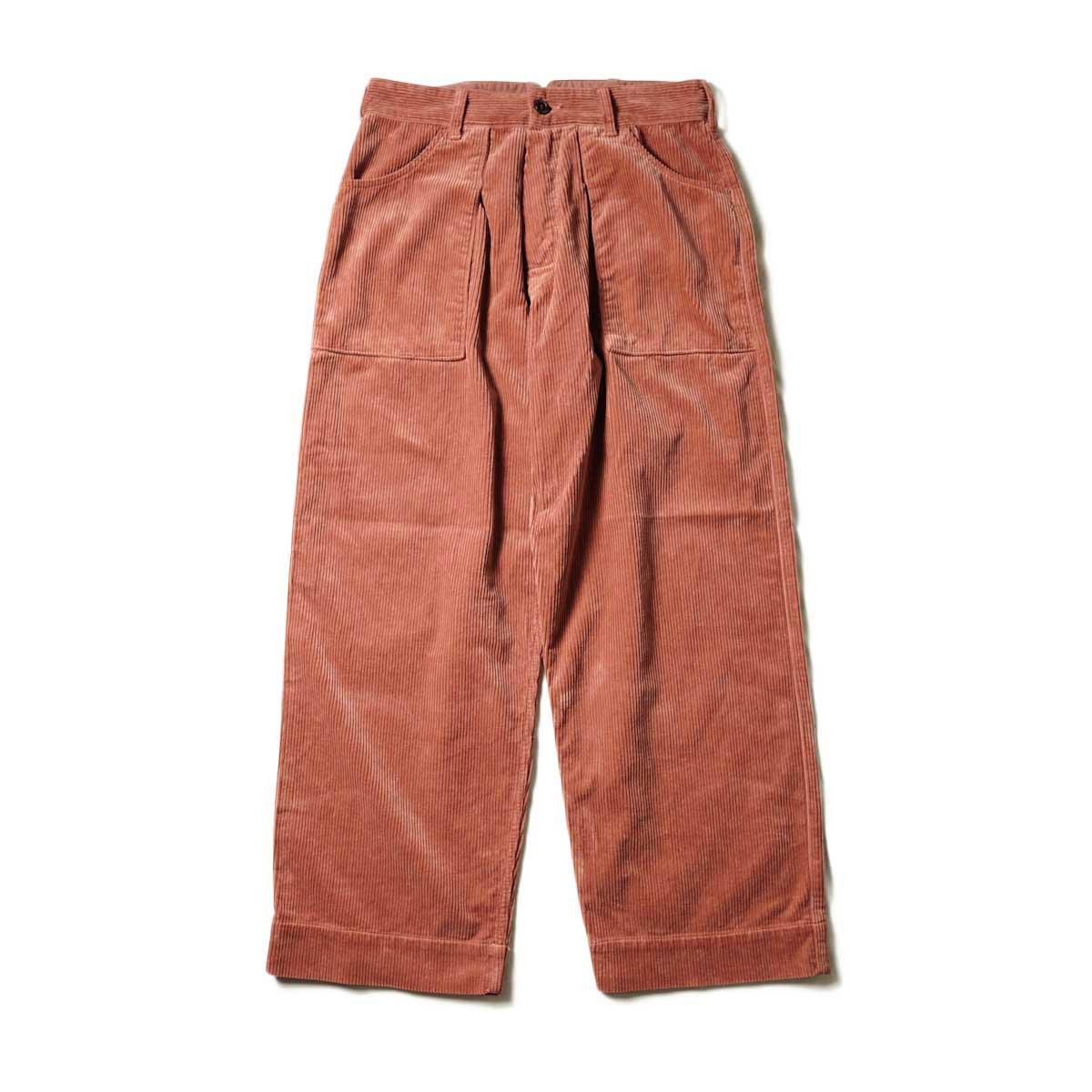 Willow Pants / P-001 - CORDUROY PANTS (Salmon Pink)