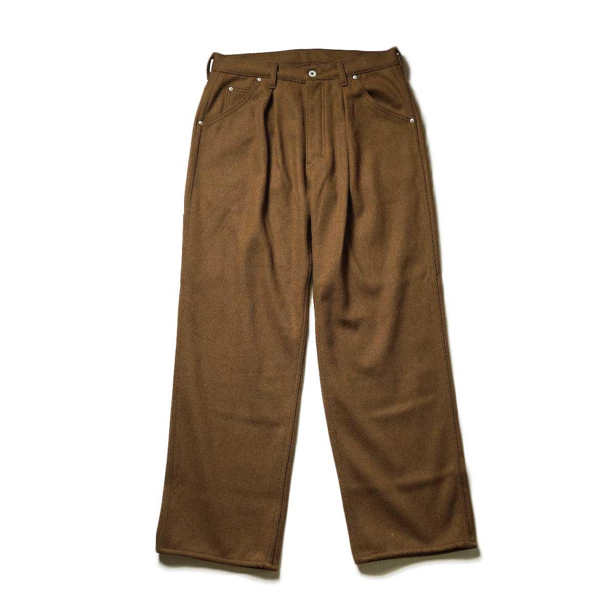 Willow Pants / P-010 - TWEED PANTS (Brown)