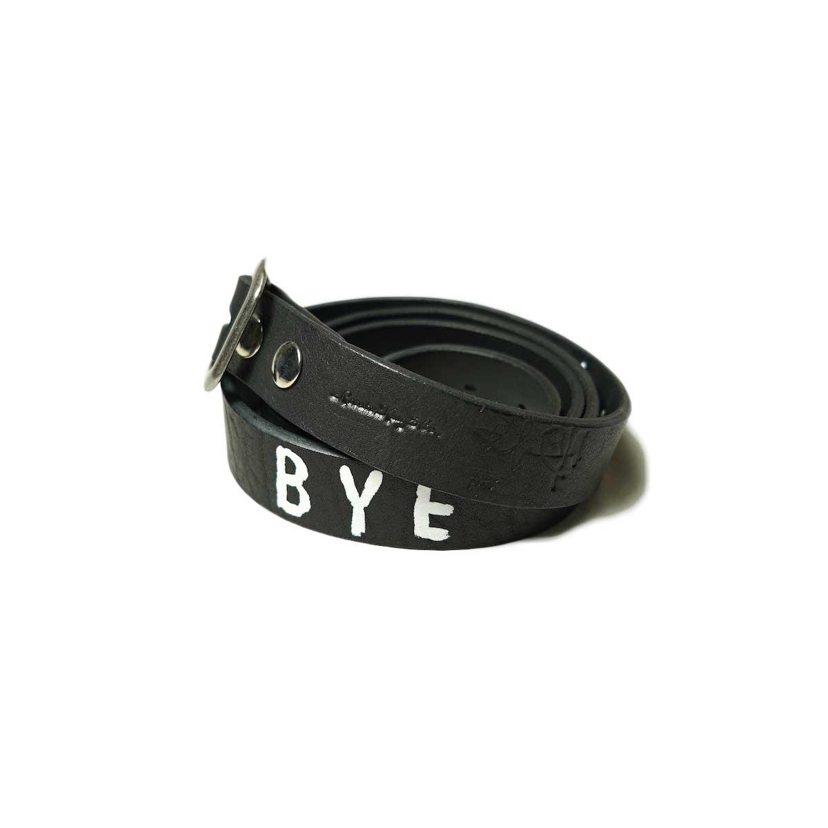 Willow Pants / R-002 - BYE BYE LEATHER BELT (Black × Silver)