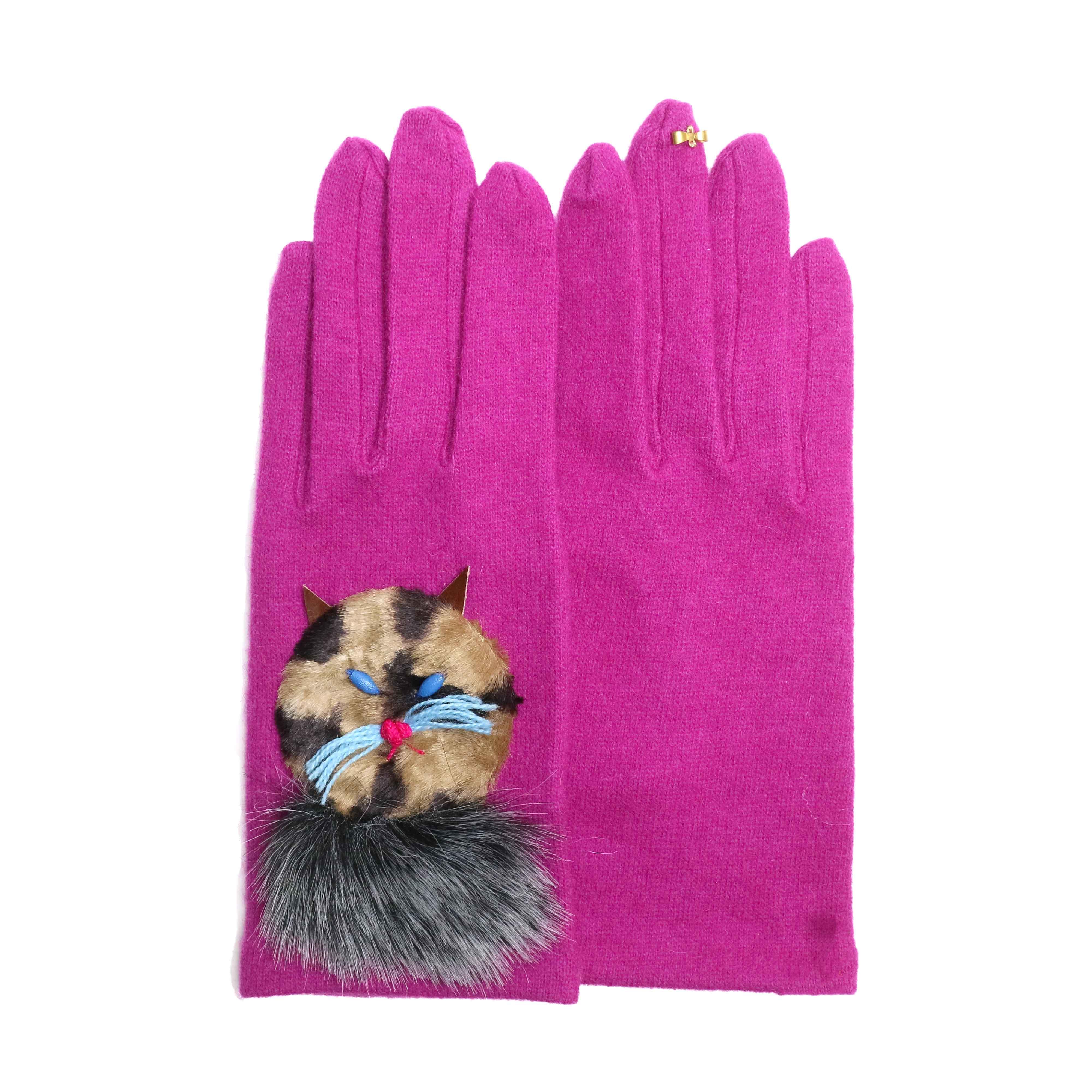 wool,cube,wool ! / アニマルグローブ (ネコ) Violet Pink(A)
