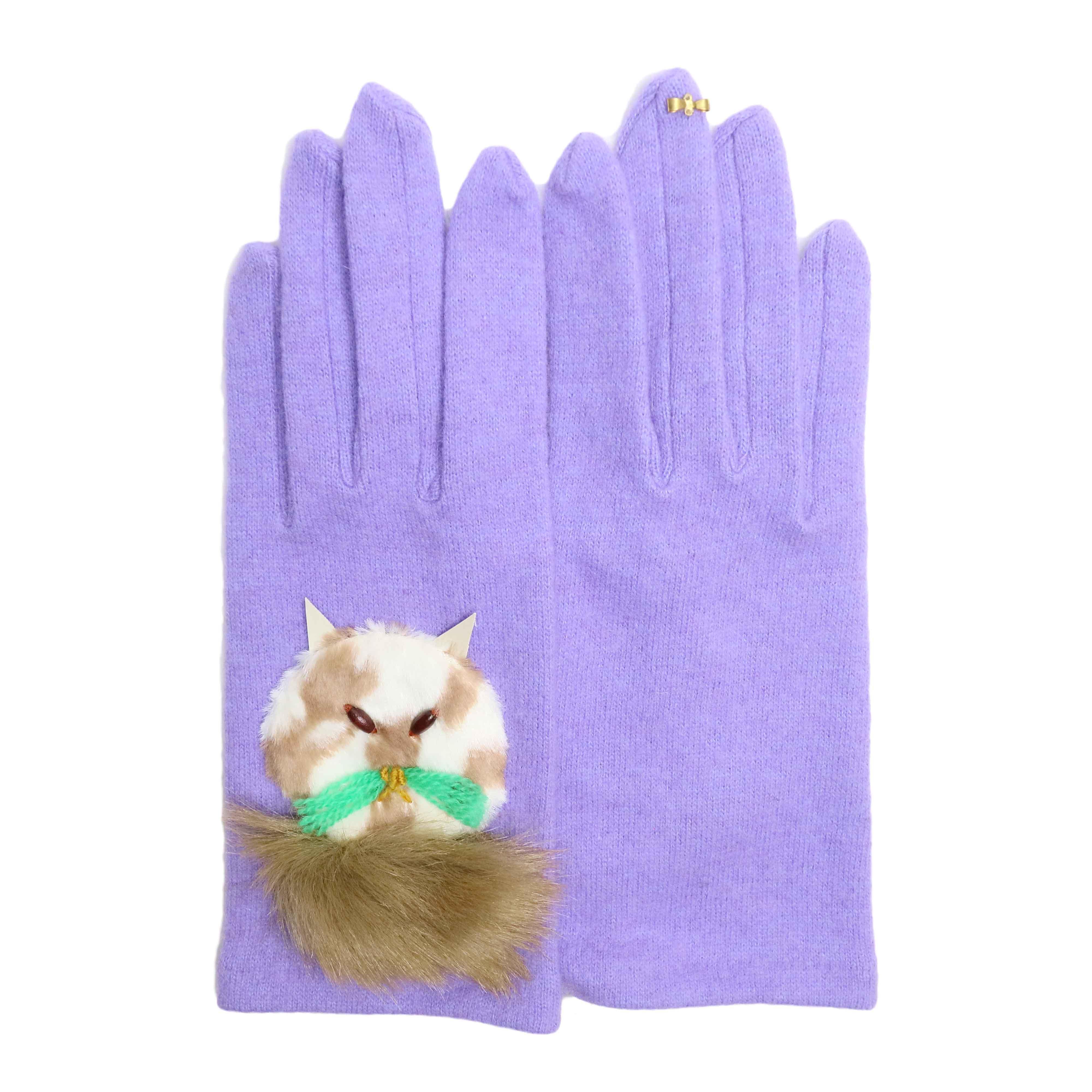 wool,cube,wool ! / アニマルグローブ (ネコ) Lavender